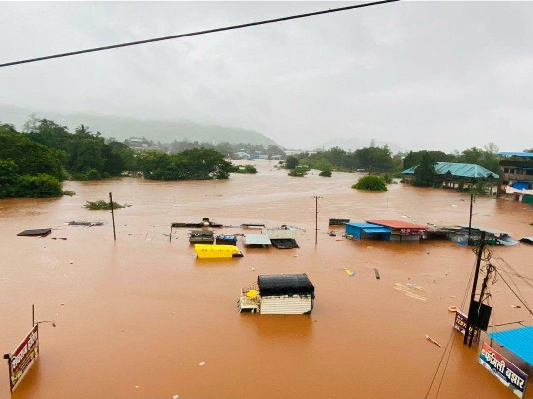 Maharashtra Rain Photos : महाराष्ट्रात पावसाचे थैमान, पाहा फोटो