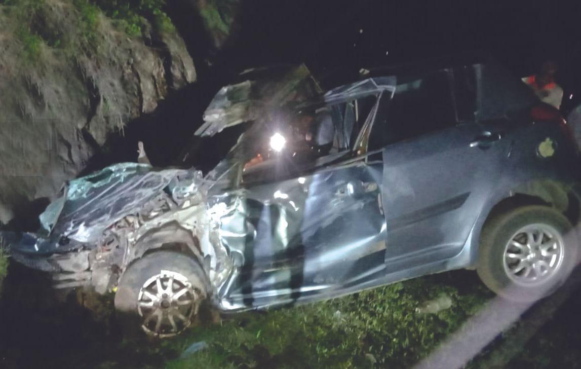 भिमाशंकरला गेलेल्या खडका येथील युवकांच्या कारला अपघात