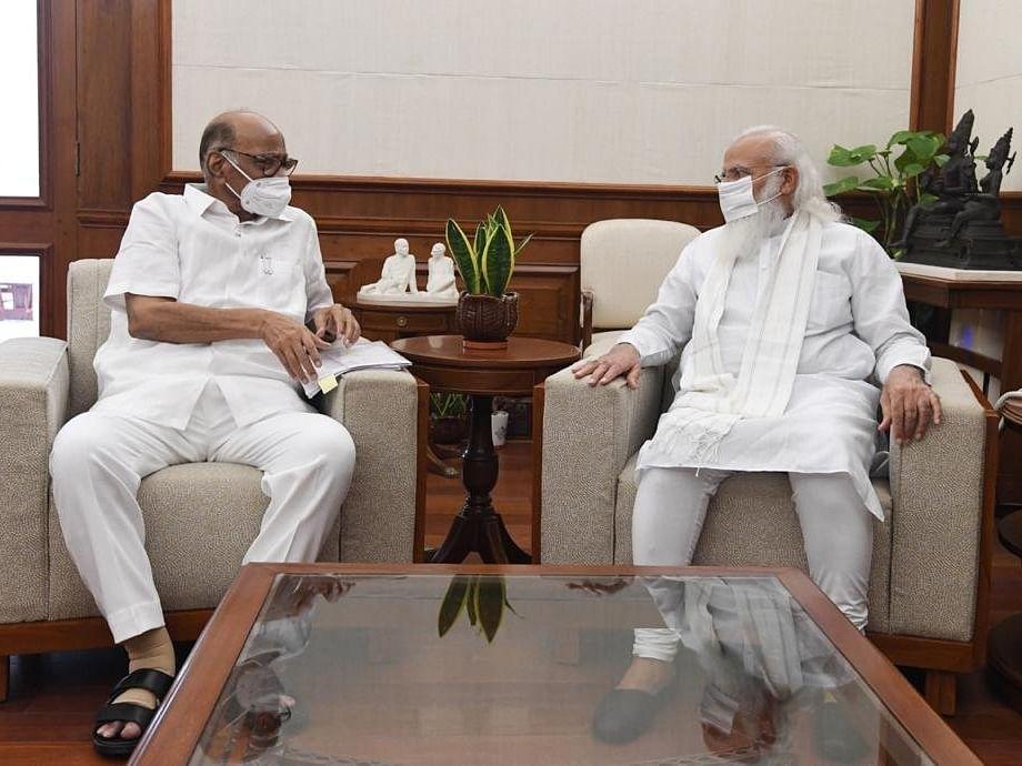 शरद पवार पंतप्रधान नरेंद्र मोदींना भेटले; राजकीय वर्तुळात तर्क-वितर्कांना उधाण!