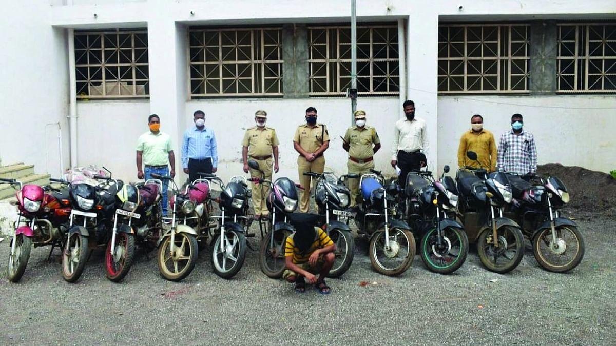 महाराष्ट्र, गुजरात राज्यात मोटार सायकल चोरी करणारा अट्टल चोरट्यास अटक