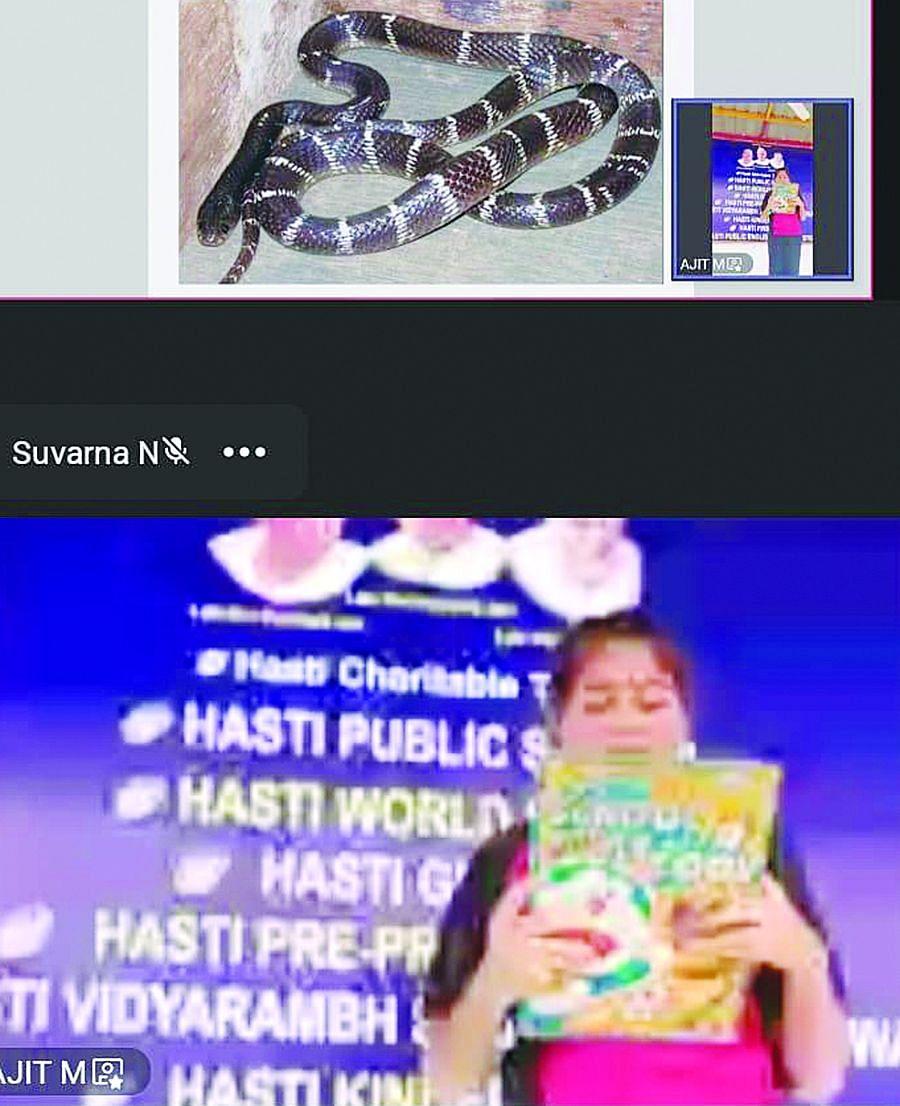 हस्ती गृप ऑफ स्कूलतर्फे विद्यार्थ्यांना सापांविषयी ऑनलाईन मार्गदर्शन