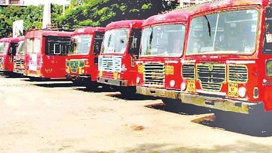 Anti-microbial coat on MSRTC buses