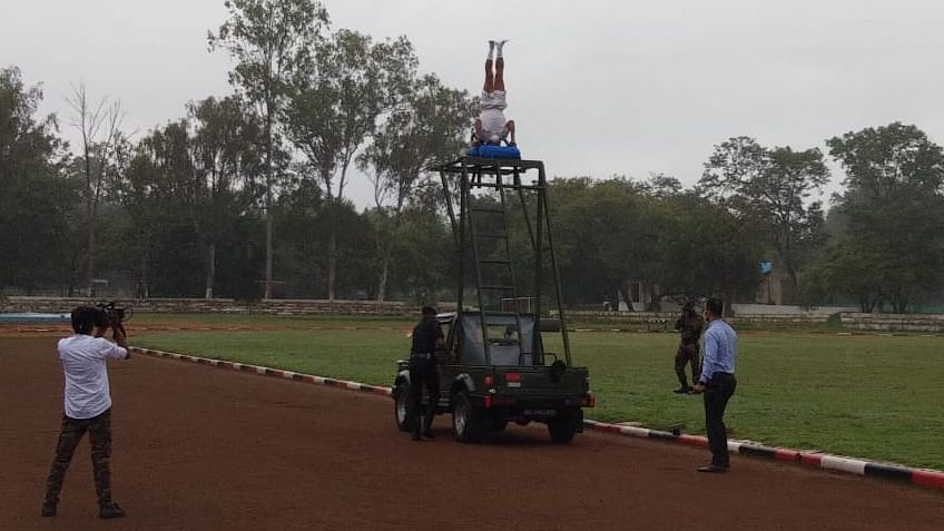 Lt Col Bhuyan sets new world records on Independence Day