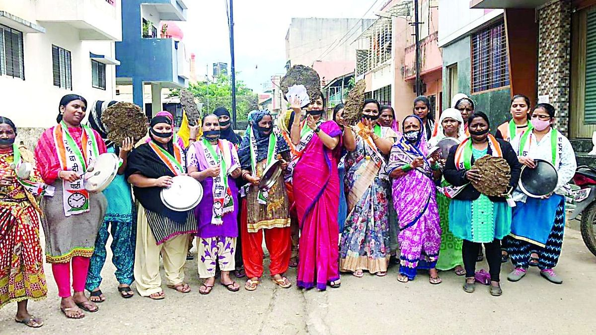NCP women wing protests against LPG price hike