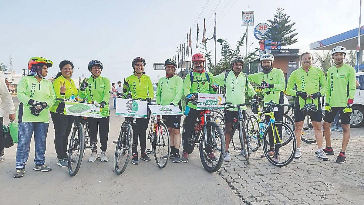 #NetZeroIndia Nashik to Mumbai Cycle Ride