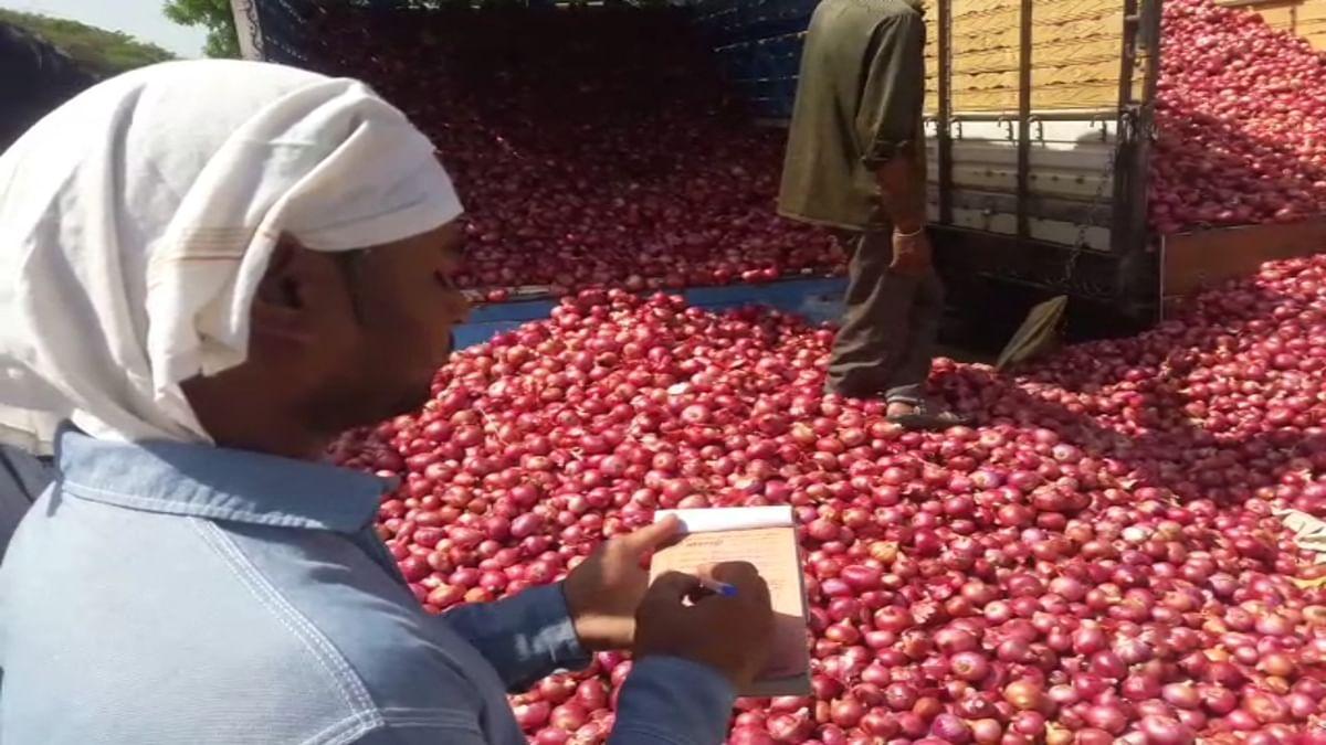 उन्हाळ कांद्याची अकरा हजारी पार; शेतकऱ्यांमध्ये उत्साह