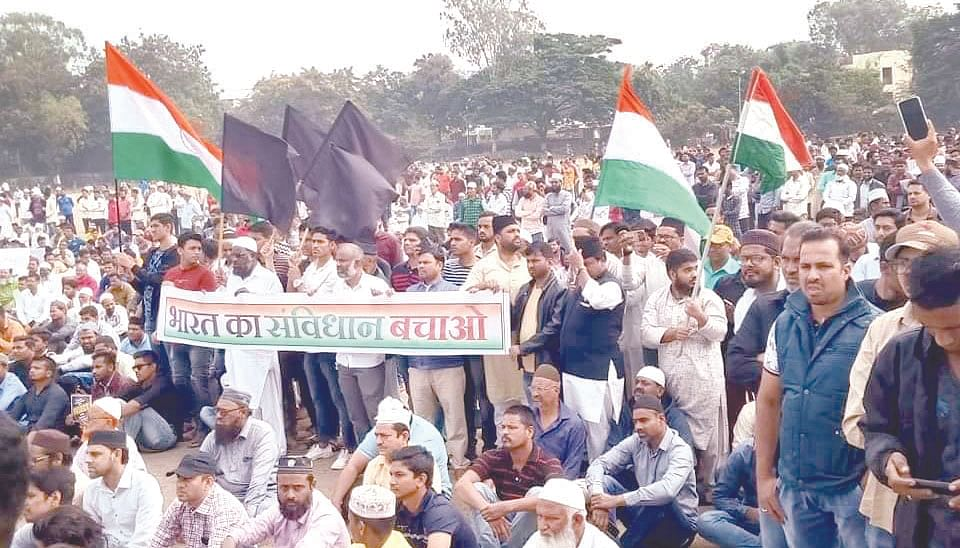 Agitation against CAA staged in city
