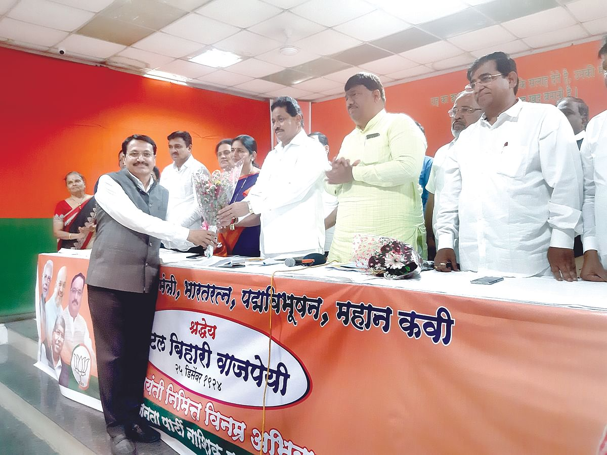 Palve re-elected as BJP city chief