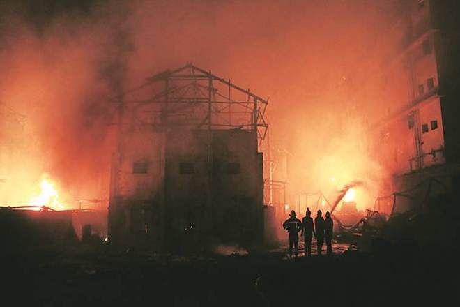 बोईसर : केमिकल कंपनीत भीषण स्फोट; मालकासह आठ कामगारांचा मृत्यू