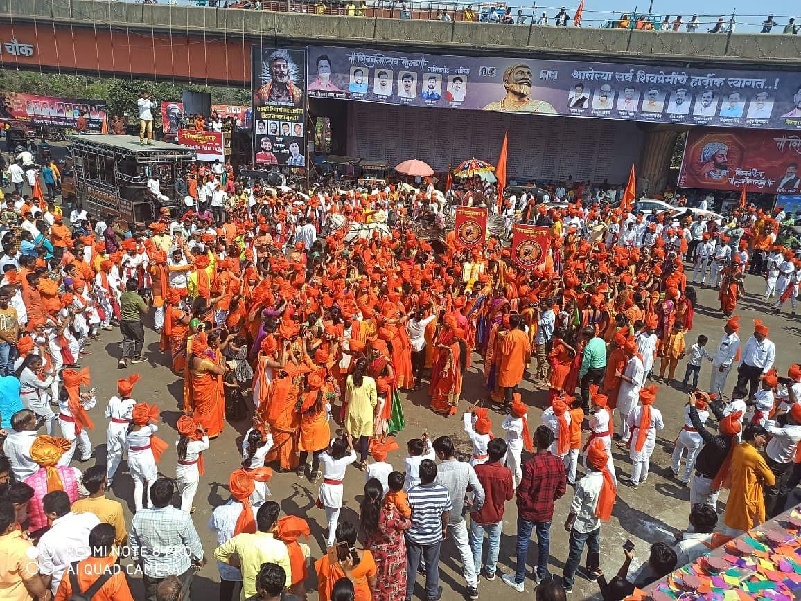 PhotoGallery : जिल्हाभरात 'जय शिवाजी जय भवानी'चा जयघोष; विविध लक्षवेधी रथयात्रा