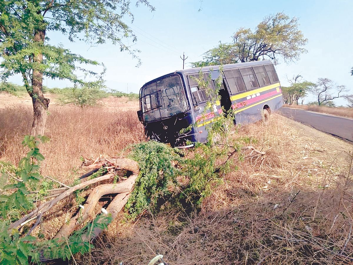 Police personnel injured in road accident