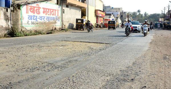 दिल्ली दरवाजा ते नेप्ती नाका रस्ता मृत्यूचा सापळा