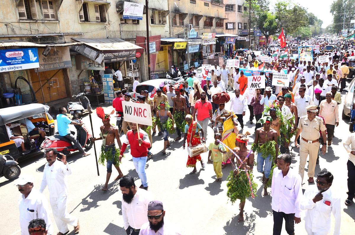 श्रीरामपुरात आदिवासी, भटके विमुुक्तांचा मोर्चा