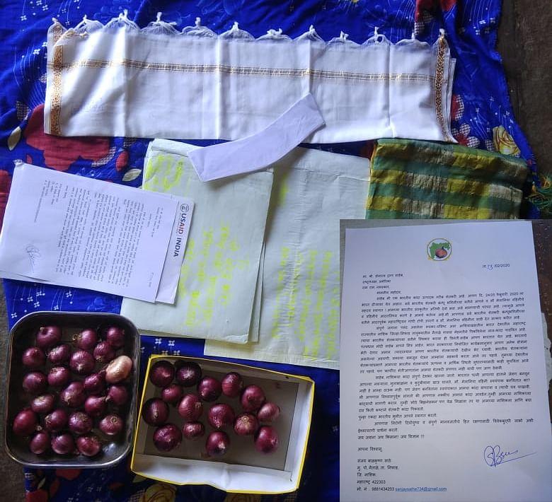 निफाड : ट्रम्प वहिनी स्वयंपाकात नाशिकचा कांदा वापरा; नैताळे येथील शेतकऱ्याचे आवाहन