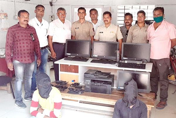 जळगाव : कंपनीतील कॉम्प्युटर चोरणारे दोघं गजाआड