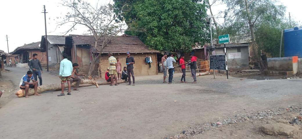 बाहेरून येणाऱ्यांना गावात प्रवेशबंदी; ग्रामीण भागात लॉकडाऊनला चांगला प्रतिसाद