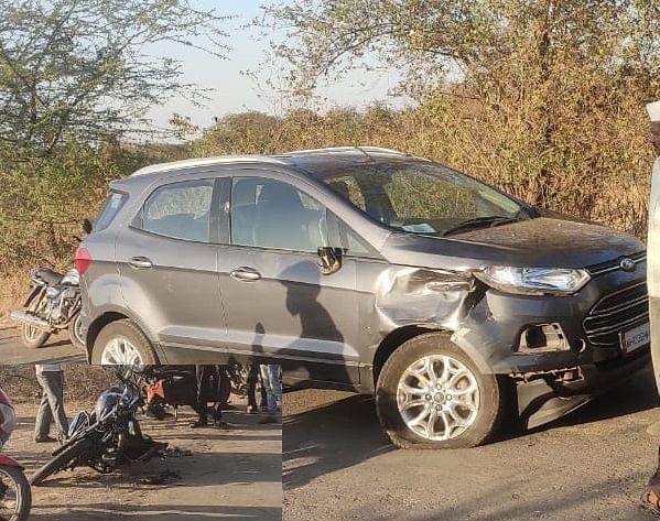 टाकेद : कारची दुचाकीस्वारांस धडक; दोघे गंभीर
