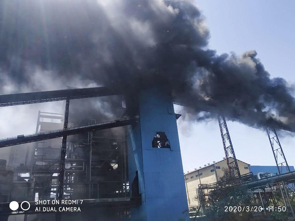 विखे कारखान्याच्या ऊर्जा प्रकल्पाला भीषण आग