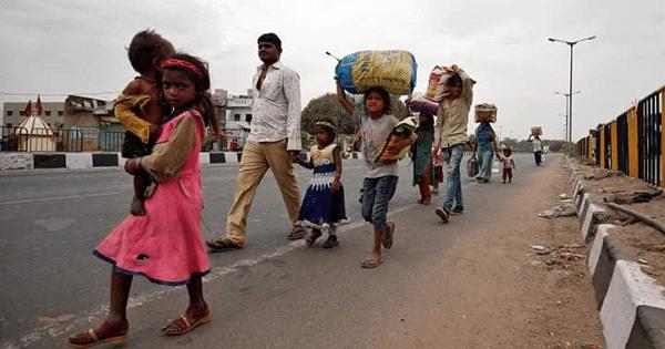 स्थलांतरित मजुरांची गावी जाण्यासाठी पायपीट; अनेक संस्थांची मदत