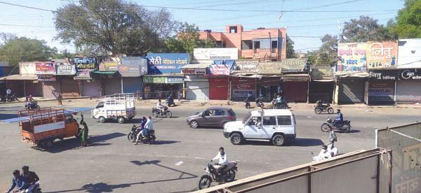 श्रीरामपुरात संचारबंदी सदृश चित्र