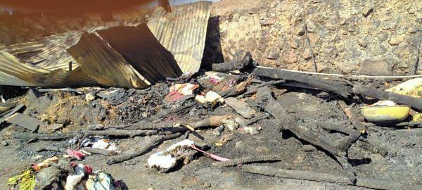श्रीगोंदा : घराला आग लागून लाखो रुपयांचे नुकसान