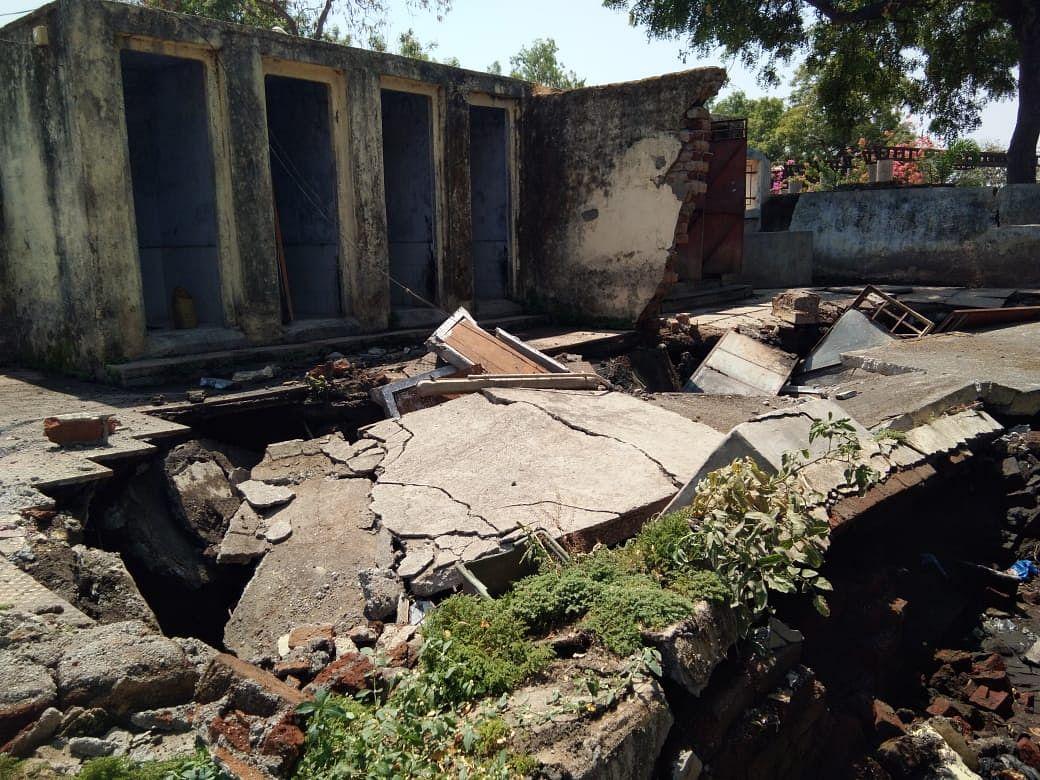 नाशिकरोड : भगूर येथे नगरपालिका शौचालय टाकीचा स्फोट