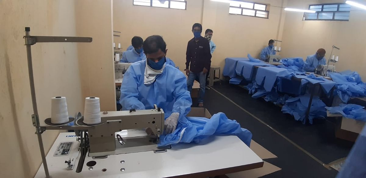 Manufacturing of PPE kits in full swing at Ambad; 2000 kits daily, costs Rs 750/Kit