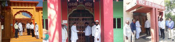 देवळाली प्रवरात 'देऊळबंद'; सर्व धार्मिक स्थळांना लावले टाळे