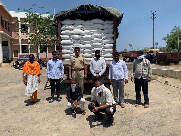 जामखेड : काळ्या बाजारात चाललेला 24 टन तांदूळ पकडला