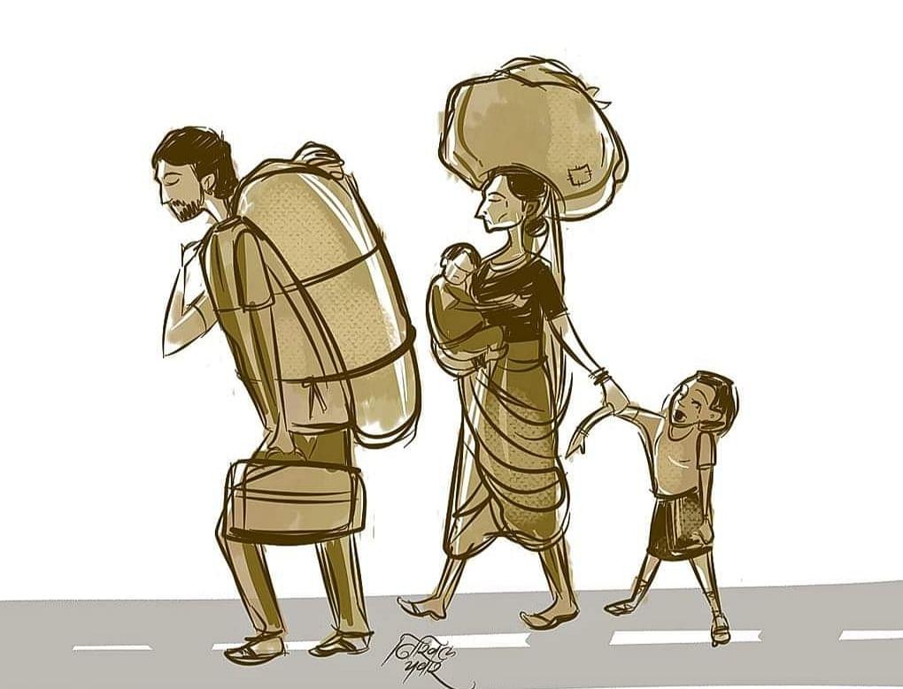 संचारबंदीतील कथा : भाकरीचा प्रवास