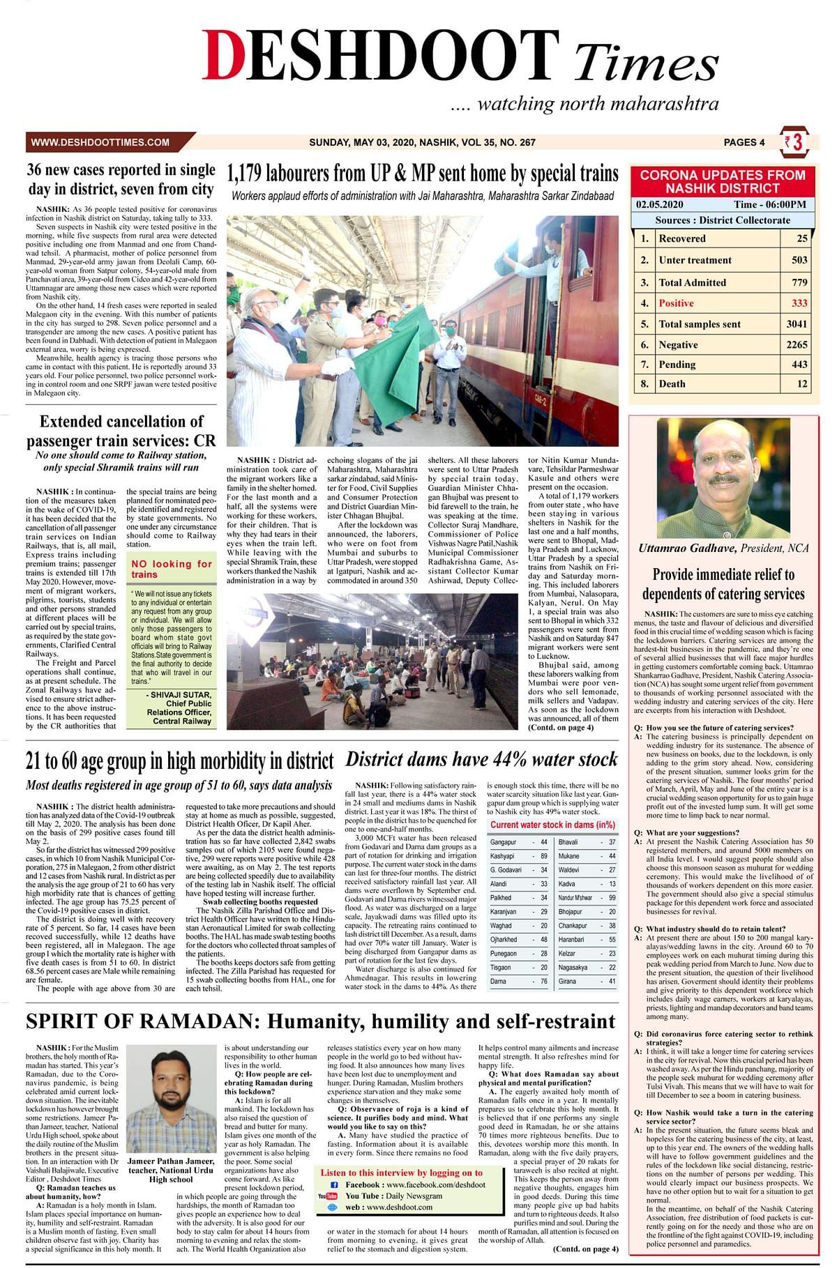 Deshdoot Times e paper, 03 May 2020