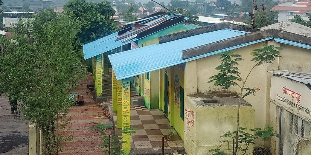 सुरगाणा : हतगडला निसर्ग चक्रीवादळाने शाळा आणि घरांचे नुकसान