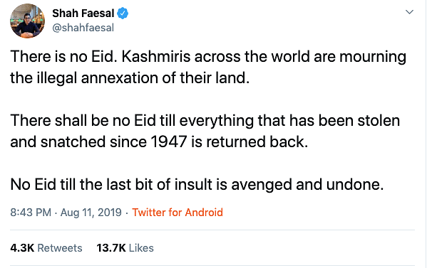 Peaceful Eid in Kashmir and the Sanatana Notion of Festival