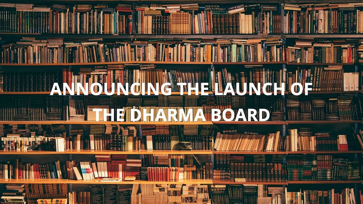 Announcing the Launch of The Dharma Board