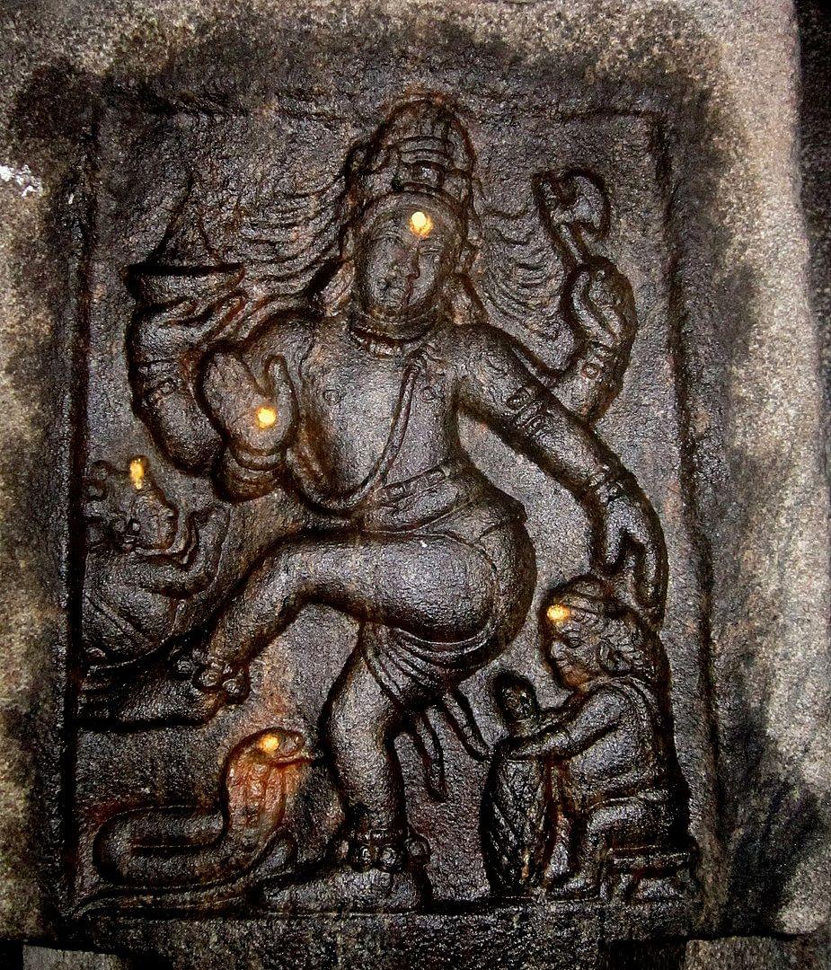 Nataraja Sculpture on a Pillar