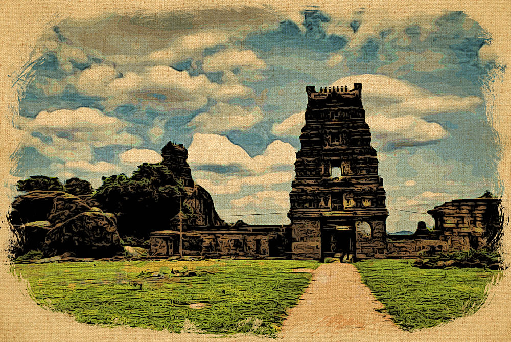 A view of the Sthambeshwara Temple
