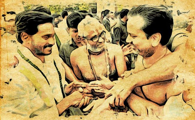 Jagan Reddy with Archakas