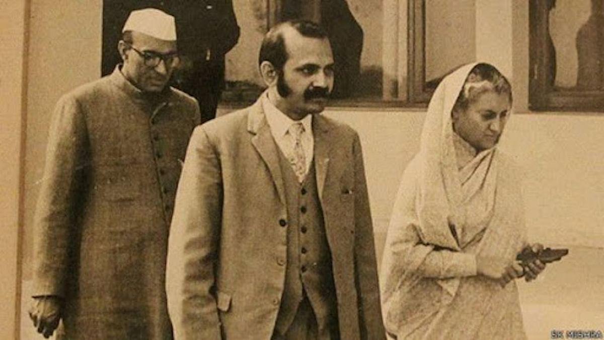 Bansi Lal with Indira Gandhi