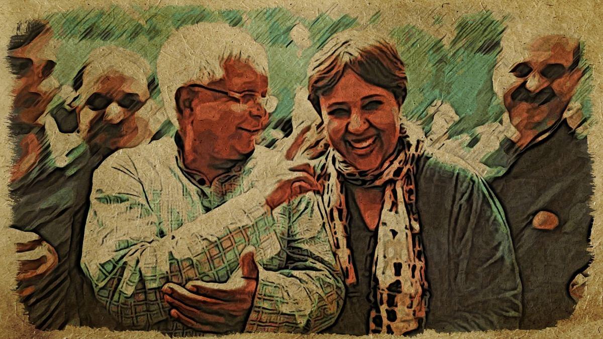 Barkha Dutt and Lalu Yadav