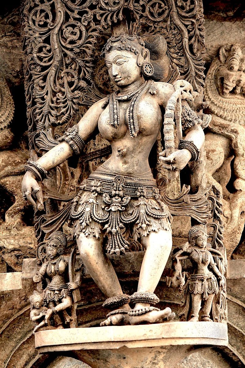 A Sculpture at Belur Chennakeshava Temple