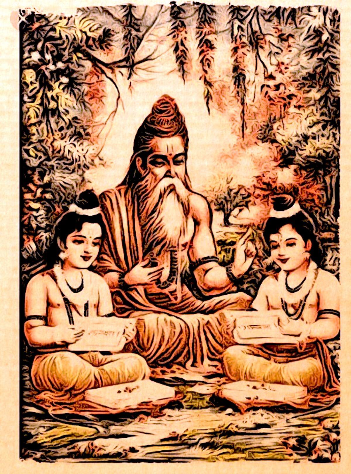Maharshi Vishwamitra: Rama and Lakshmana