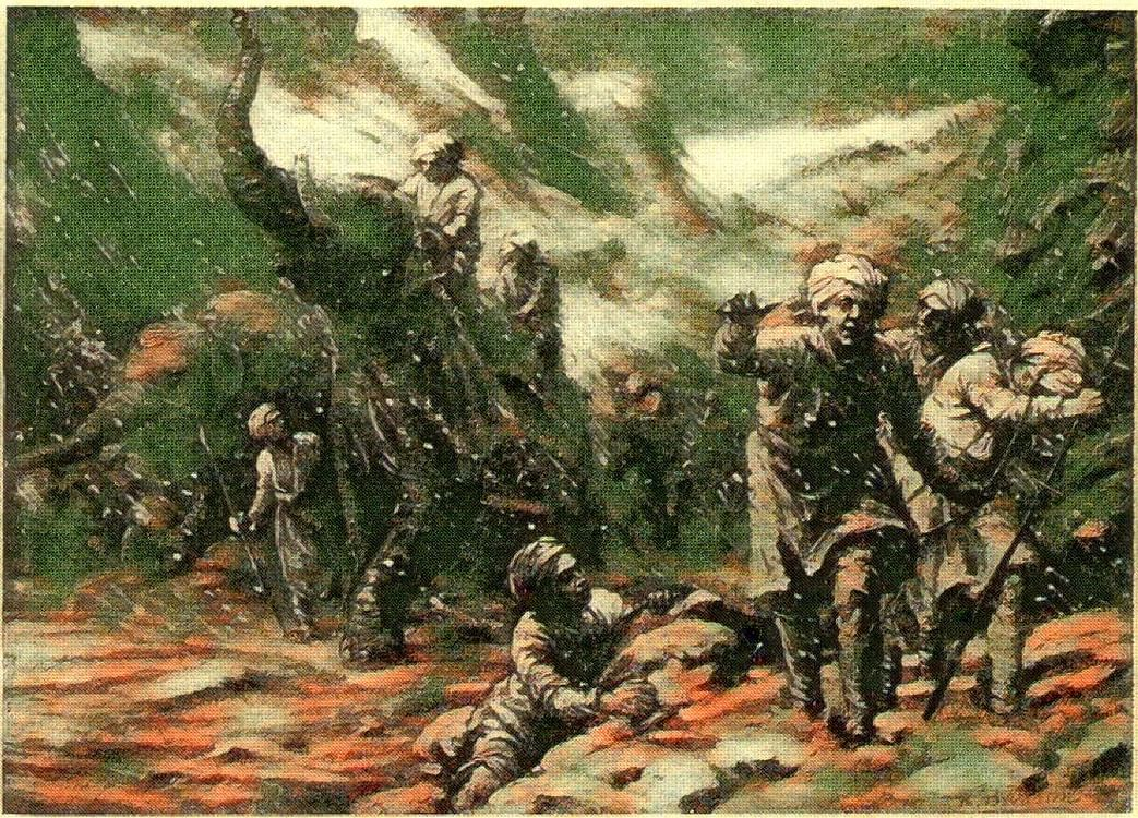 Maharaja Jayapaladeva army suffering in the snowstorm- Hindu Shahi raid on Ghazni