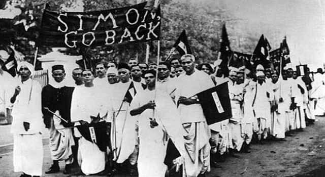 A still from one of many protests during the Quit India Movement