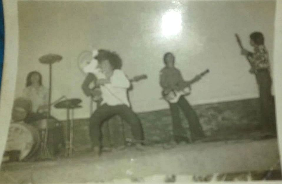 A still captured during a performance by Rocky & The Band