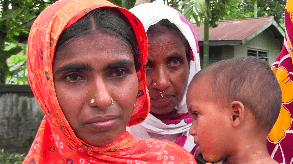 Faces that say it all: Family members of a suspected D voter lodged at the Kokrajhar detention camp
