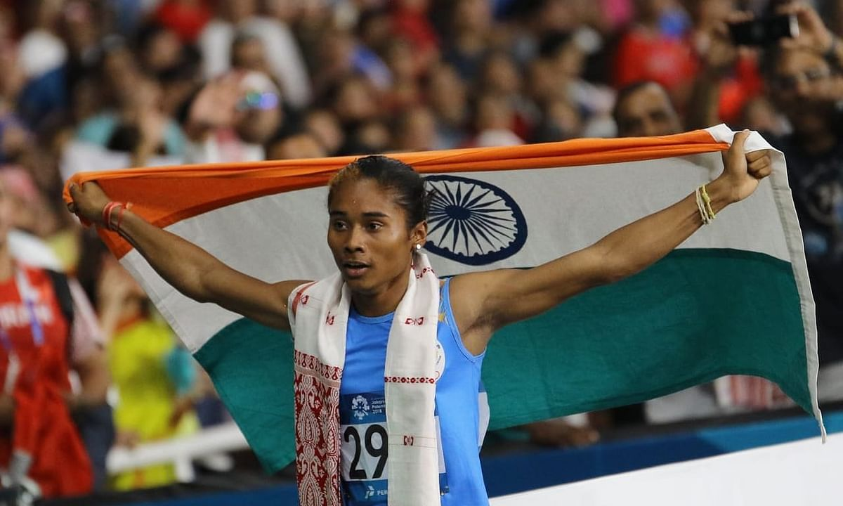 Hima Das, a star even outside the race track