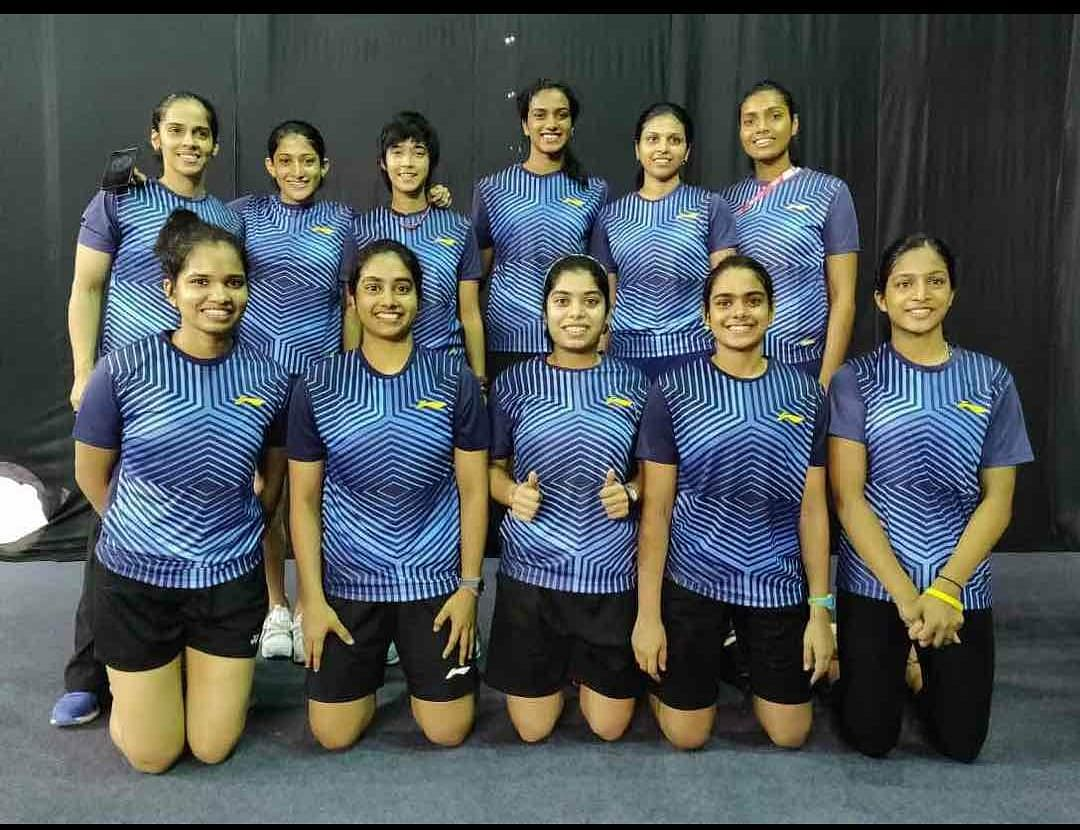 Ashmita along with other members of the women's badminton squad in the Indian contingent for the Asian Games this year