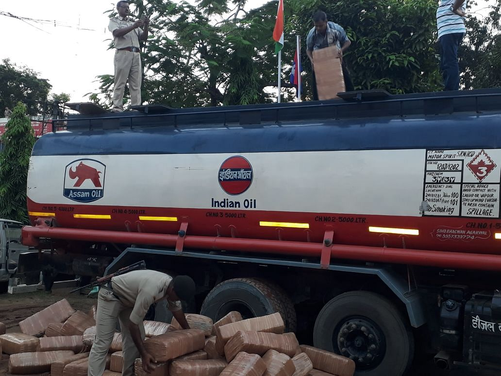 Ganja smugglers get creative, use oil tankers to carry contraband