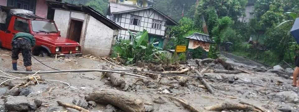 Heavy rains in the past few days have triggered landslides at several places in north Sikkim