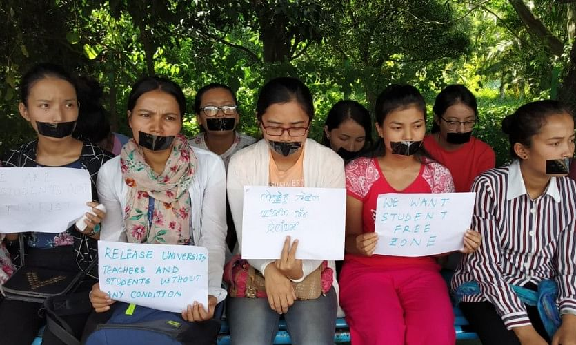 Manipur University unrest: Women students stage silent protest